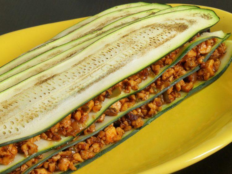 recetas menus semanal saludable lasaña de calabacín