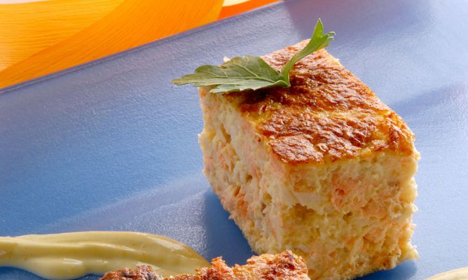 receta menú semanal saludable pastel de salmón y bacalao fresco