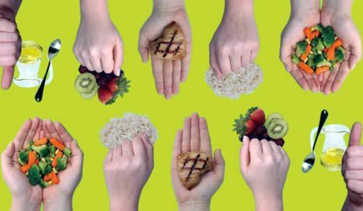 Sobre Elena de La fuente Nutricionista manos comida